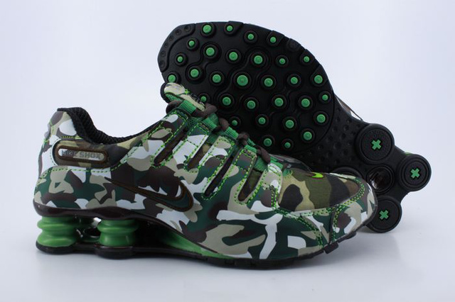 056ZZ27 2014 Homme Vert Camouflage Nike Shox NZ Chaussures
