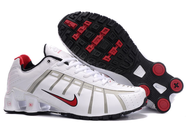 099CL56 2014 Blanc Rouge Noir Nike Shox NZ Chaussures Homme