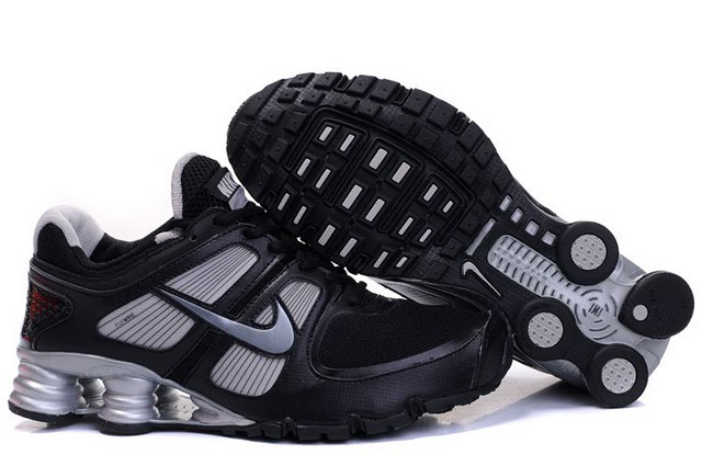 376MF18 2014 Noir and Silveer Homme Nike Shox Turbo Chaussures