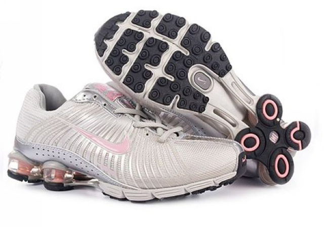 484GE57 2014 Silvery Rose Femme Nike Shox R4 Chaussures