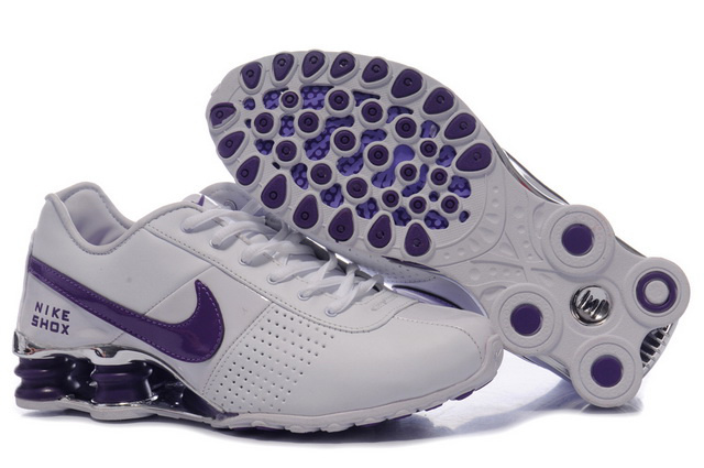 492OF82 2014 Femme Blanc Pourpre Nike Shox OZ Chaussures