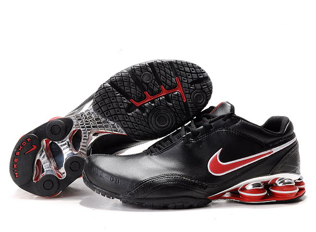 526MX13 2014 Homme Nike Shox R5 Chaussures Noir Rouge