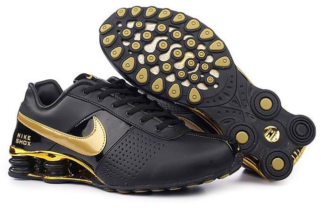 829DX97 2014 Homme Noir and D'Or Nike Shox OZ Chaussures