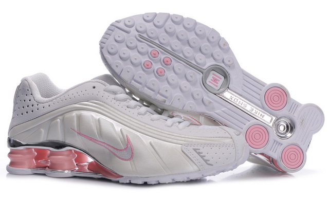 Beige Rose Nike Shox R4 Chaussures Femme 959TZ62 2014