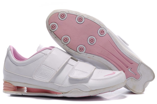 Femme 422ST01 2014 Blanc Rose Nike Shox R3 Chaussures