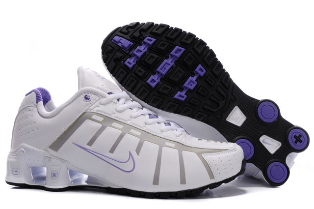 Femme 644YZ53 2014 Nike Shox NZ Chaussures Blanc Pourpre