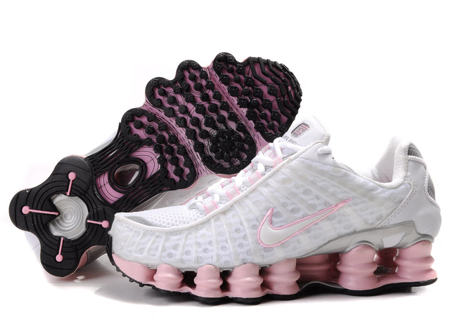 Femme Blanc Rose 426CW62 2014 Nike Shox TL3 Chaussures