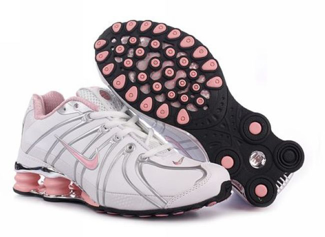 Femme Blanc Rose Rouge 139MT68 2014 Nike Shox OZ Chaussures