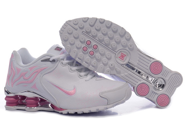 Femme Nike Shox R4 Chaussures 808VZ23 2014 Blanc And Rose