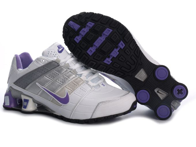 Nike Shox NZ Chaussures 508LZ19 2014 Femme Blanc And Pourpre