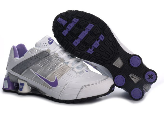 Nike Shox NZ Chaussures Blanc Silver Pourpre 312YP58 2014 Femme
