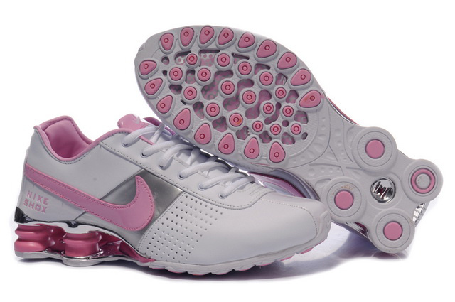 Nike Shox OZ Chaussures 036WX88 2014 Silver Rose Femme