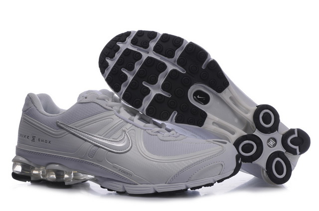 Nike Shox R4 Chaussures 399HZ23 2014 Blanc Silvery Homme