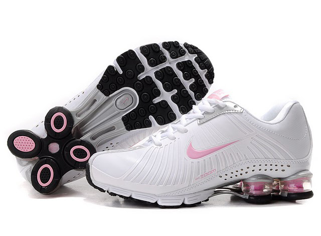 Nike Shox R4 Chaussures Femme Blanc Rose 544IF10 2014