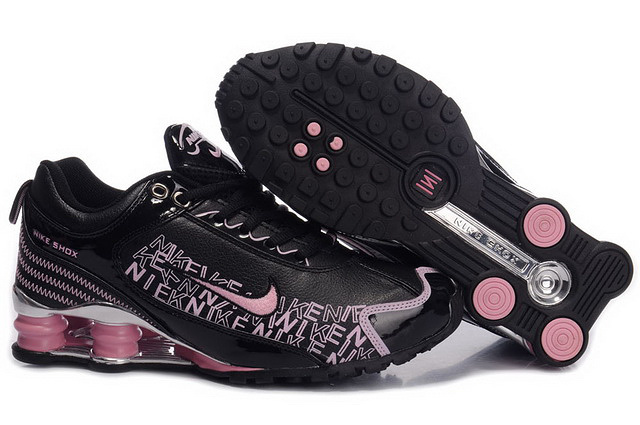 Nike Shox R4 Chaussures Noir And Rose 414OB13 2014 Femme