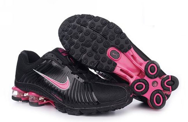 Noir And Rose Nike Shox R4 Chaussures Femme 039UL57 2014
