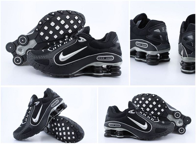 Noir and Silver Nike Shox Monster Chaussures Homme 107VC48 2014