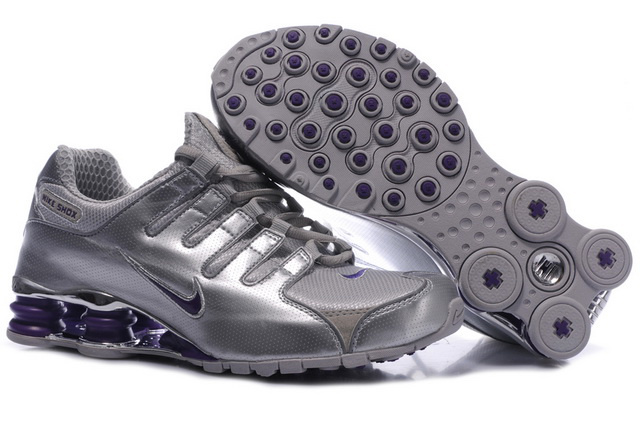 Silver And Pourpre 745PR92 2014 Nike Shox NZ Chaussures Femme