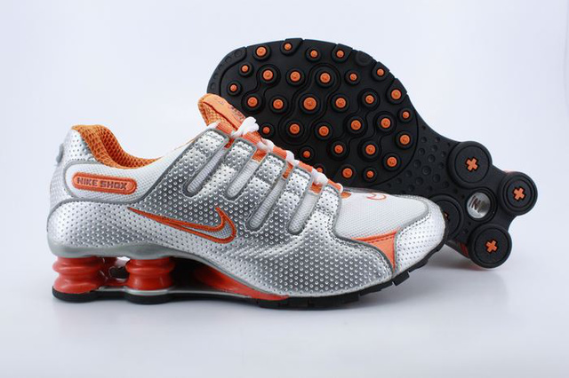 Silvery Orange Nike Shox NZ Chaussures 356DV56 2014 Homme