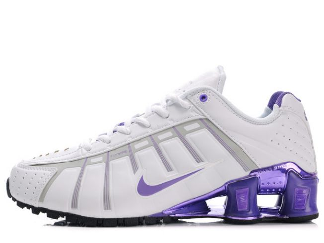 134QF46 2014 Nike Shox Oleven Blanc/Pourpre Femme