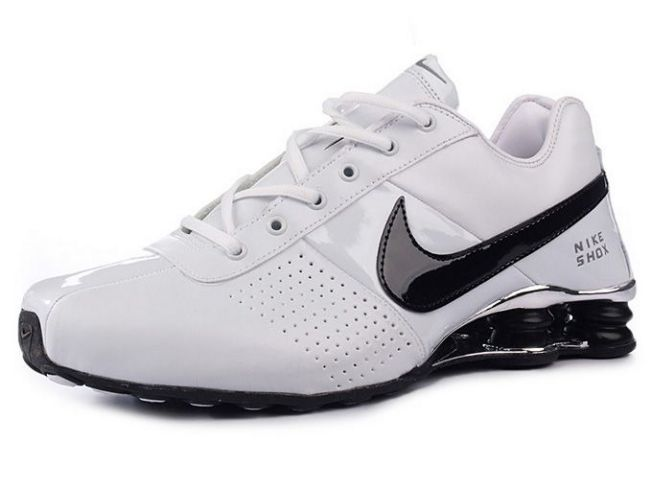 387GQ37 2014 Blanc Noir Silver Nike Shox Deliver Homme