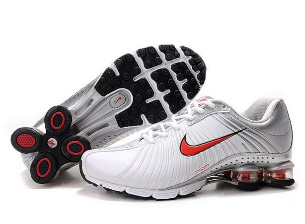 389TY10 2014 Nike Shox Experience Homme Blanc/Rouge