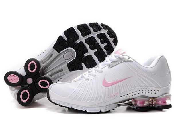 849NW76 2014 Blanc/Rose Nike Shox Experience Femme