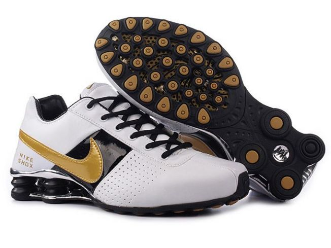 Blanc Noir Or Homme 293NW71 2014 Nike Shox Deliver