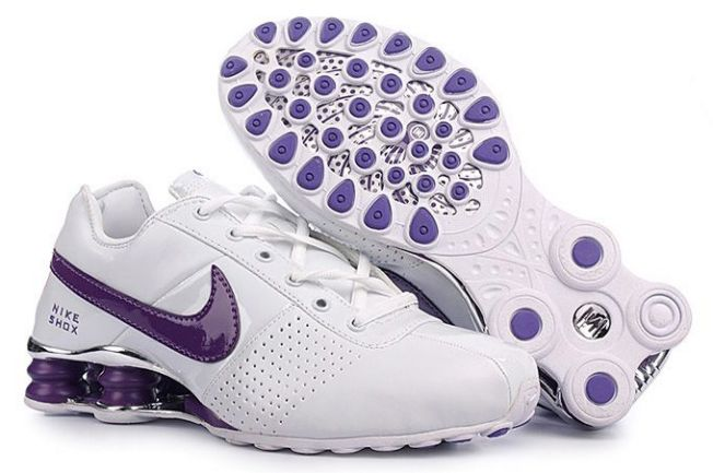 Blanc Pourpre Nike Shox Deliver Femme 608MS51 2014