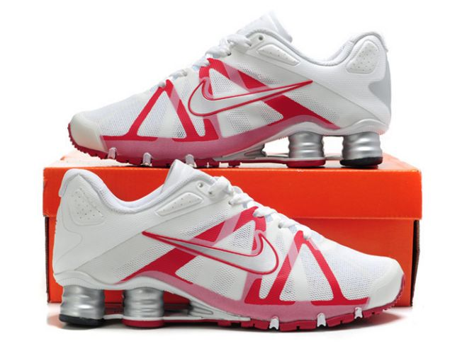 Blanc/Rouge Nike Shox Roadster Homme 200IS19 2014
