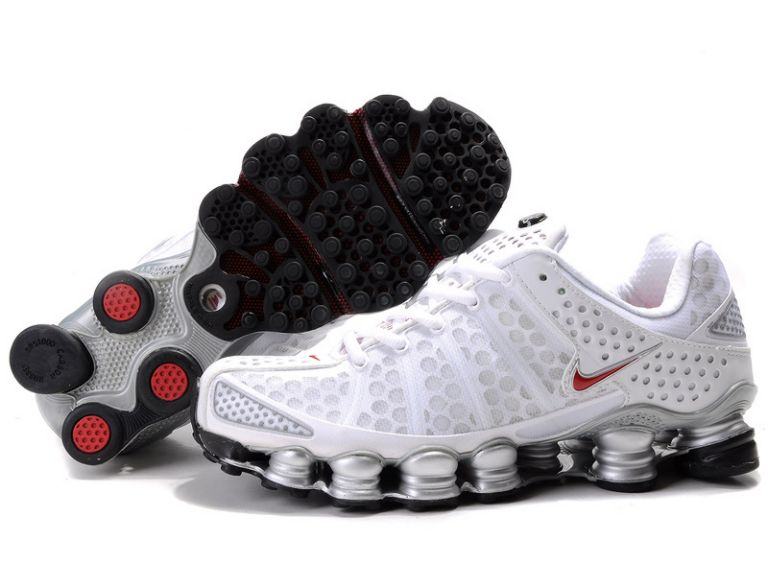Blanc/Rouge-Silver Nike Shox TL3 292HZ42 2014 Homme