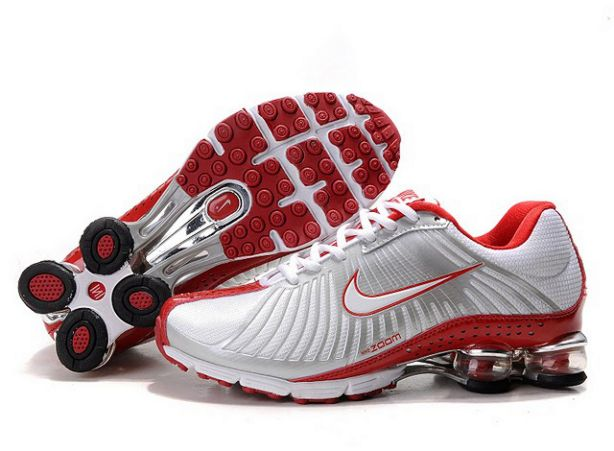 Blanc/Silver-Rouge 734AM77 2014 Homme Nike Shox Experience