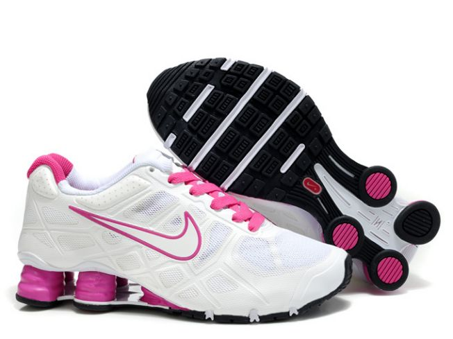 Femme 104MM04 2014 Blanc/Rose Nike Shox Turbo 12