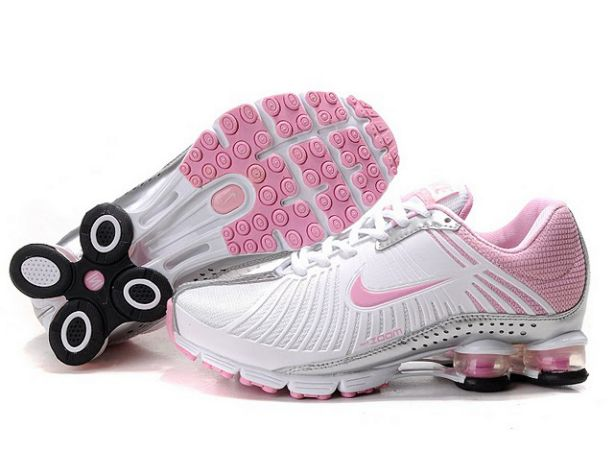 Femme Nike Shox Experience 995BB57 2014 Blanc/Silver-Rose