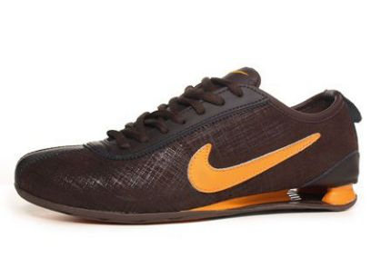 Homme 192PF65 2014 Nike Shox Rivalry Premium Brun/Orange