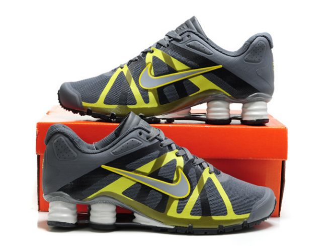 Homme Gris/Jaune Nike Shox Roadster 111CT54 2014