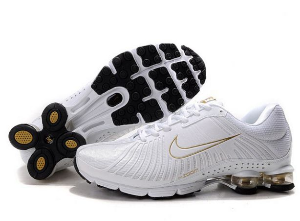 Nike Shox Experience Homme 566ZG07 2014 Blanc/Or