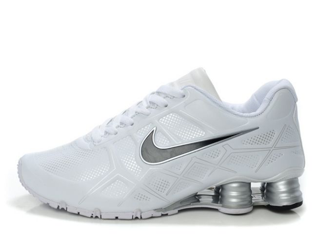Nike Shox Turbo 12 Leather Blanc/Noir-Silver 805BP63 2014 Homme